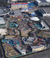Legoland Japan is seen from a Mainichi Shimbun helicopter in Nagoya's Minato Ward on Feb. 9, 2018. (Mainichi)