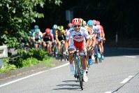 全日本選手権優勝の山本元喜(KINAN Cycling Team)が、このレースから日本チャンピオンジャージで走る=JBCF提供