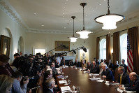 In this Nov. 20, 2017 photo, U.S. President Donald Trump speaks during a cabinet meeting at the White House in Washington. (AP Photo/Evan Vucci)