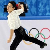 ソチ五輪フィギュア男子シングル銅メダルのデニス・テンさん=ロシア・ソチのアイスベルク・パレスで2014年2月14日、貝塚太一撮影
