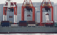 In this June 18, 2018 photo, a container ship is docked at a port in Tokyo. (AP Photo/Koji Sasahara)