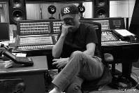 Novelist Haruki Murakami in the recording studio at Tokyo FM. (Photo courtesy of Tokyo FM)