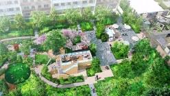 「ディスカバテラス プロジェクト」の中庭(完成予想図)