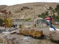 シリア内戦でアサド政権と反体制派が奪い合った山岳地帯の水道施設=シリア南部アインフィージャで2017年12月21日、篠田航一撮影
