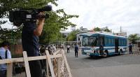 オウム事件の死刑囚が収容されている東京拘置所=東京都葛飾区で2018年7月26日午前9時11分、長谷川直亮撮影