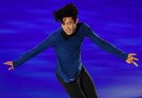 アイスショーで華麗な演技をするネイサン・チェン=丸善インテックアリーナ大阪で2018年7月28日、木葉健二撮影