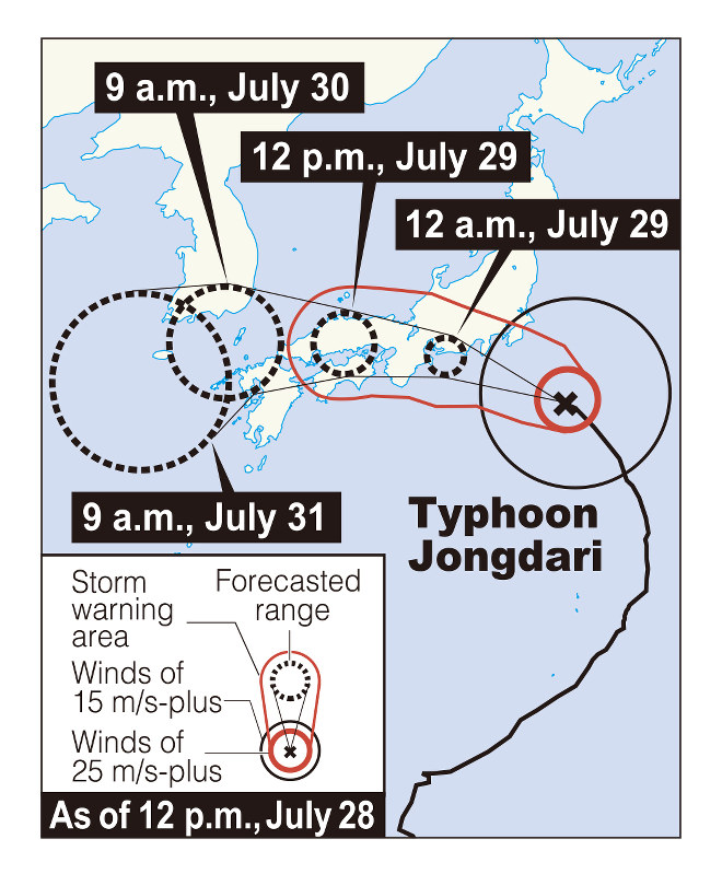 Disaster-hit Japan braces for powerful typhoon