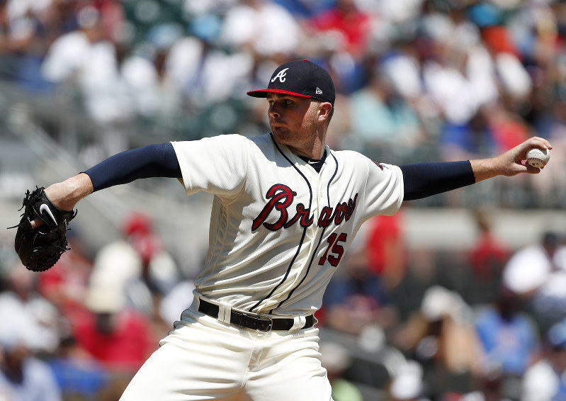 Braves' Newcomb falls one out shy of no-hitting Dodgers