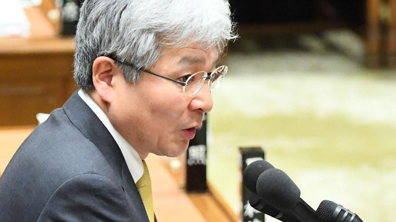 逢坂誠二氏=国会内で2018年2月、川田雅浩撮影