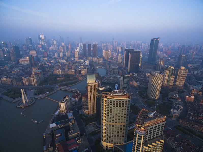 中国・上海の街並み