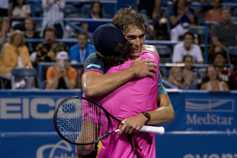 Tennis Sibling Rivalry Alexander Zverev Beats Brother Mischa In Dc