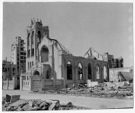 爆心地から900メートルにあった広島流川教会=ゲイル・ヨシカワさん提供