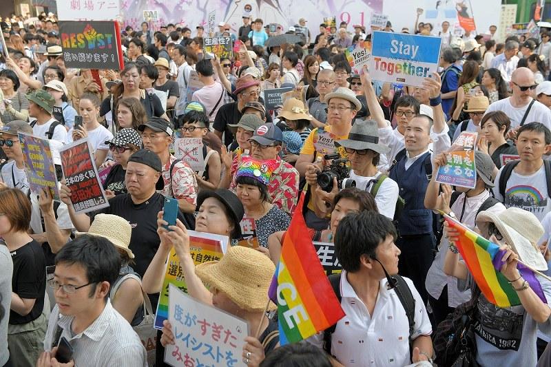 杉田議員寄稿:LGBTなど抗議活動...