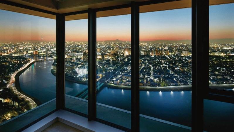 シティータワー金町の35階からの眺望