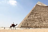 前近代、支配者の収奪した富は巨大な墓にも使われた。(Bloomberg)