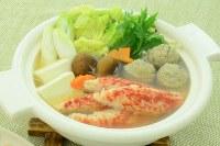 「ほぼタラバガニ」の調理例。「カニ鍋風」=カネテツデリカフーズ提供