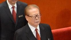 中国の江沢民元国家主席=2012年11月8日、隅俊之撮影