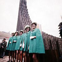 ブリティッシュ・コロンビア州館のホステス=1970年3月