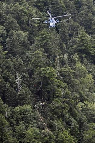 群馬:9人搭乗の防災ヘリ墜落 県境山中で発見 - 毎日新聞