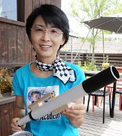 子ども宇宙アカデミーの代表を務める伊藤智子さん=広島市安芸区海田町で、東久保逸夫撮影