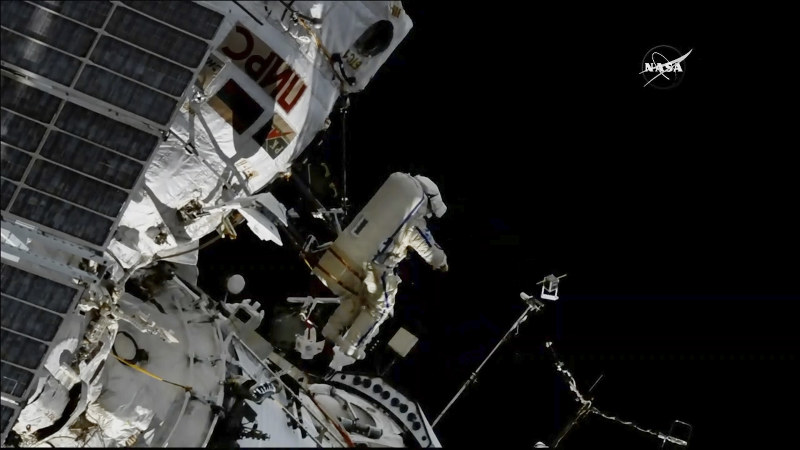 Spacewalkers install satellites by hand to track bird behaviour