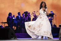 In this April 19, 2017, file photo, Aretha Franklin performs at the world premiere of