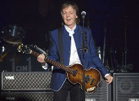 In this July 10, 2017 file photo, Sir Paul McCartney performs at Amalie Arena in Tampa, Fla. (AP Photo/Scott Audette)