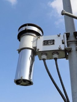A temperature gauge, which is part of the Automated Meteorological Data Acquisition System, is seen 1.5 meters above the ground on Nov. 4, 2011. (Photo courtesy of the Japan Meteorological Agency)