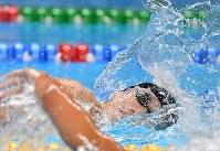 競泳男子200メートル自由形で2位の松元克央=ジャカルタで2018年8月19日、宮間俊樹撮影