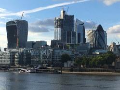 ロンドンの金融街シティー(筆者撮影)