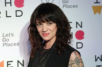 In this April 12, 2018 photo, Italian actress and director Asia Argento arrives at the ninth annual Women in the World Summit in New York. (AP Photo/Frank Franklin II)