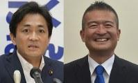 Yuichiro Tamaki, left, and Keisuke Tsumura (Mainichi)