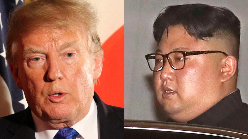 【左】トランプ米大統領【右】北朝鮮の金正恩朝鮮労働党委員長