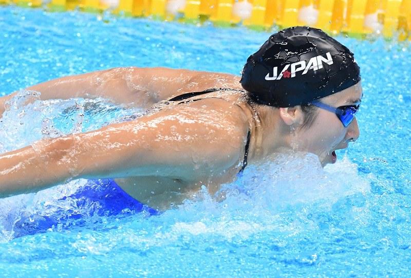 アジア大会:競泳、池江5冠 1大...