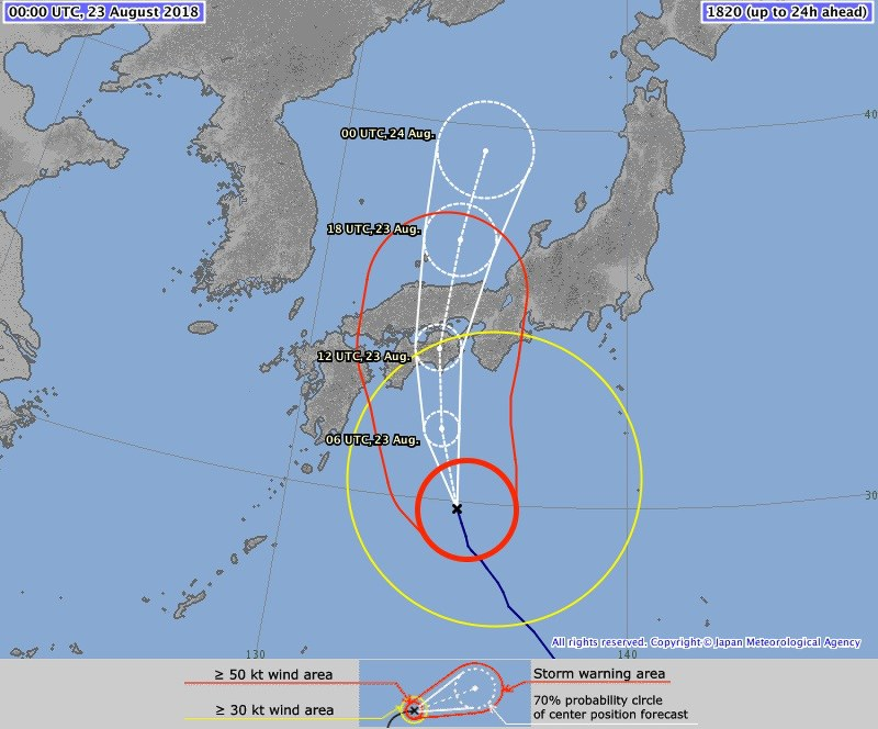 South Korea, Japan brace for winds and rain from 2 typhoons