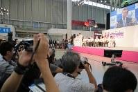 東京2020パラリンピックカウントダウンイベント=東京都江東区で2018年8月25日午後4時50分、和田大典撮影