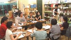 「まちゼミ」で行われた日本酒講座=筆者提供