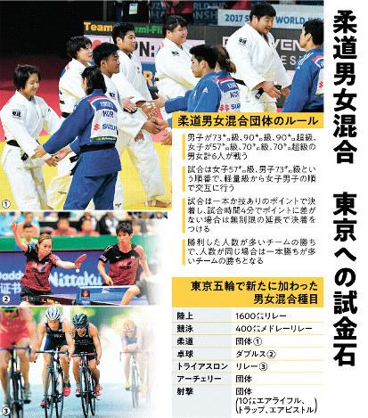柔道男女混合 東京への試金石