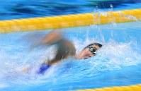 競泳女子100メートル自由形で優勝した池江璃花子=ジャカルタで2018年8月20日、宮間俊樹撮影