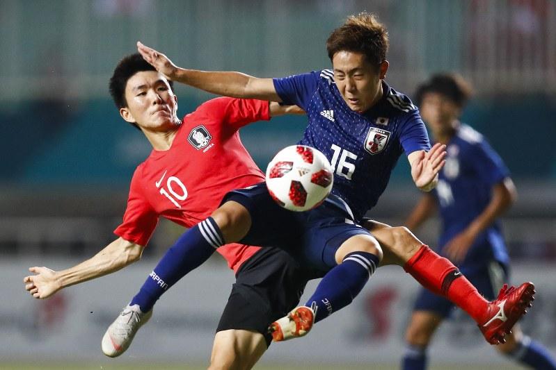 アジア大会:日本0-0で後半へ ...