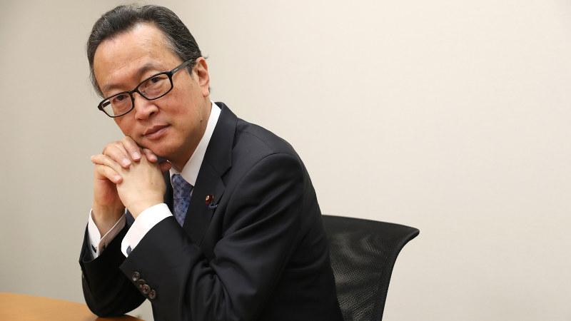 船田元氏=佐々木順一撮影