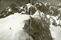 山岳写真家の船越好文氏(1909~2001年)の作品「前穂の東面」=「雪線」(白水社)より