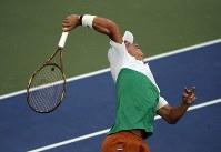 【男子シングルス1回戦】世界ランキング50位のマクシミリアン・マルテラー(ドイツ)に6-2、6-2、6-3でストレート勝ち。2年ぶりに2回戦へ=AP