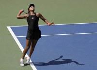 【女子シングルス2回戦】予選を勝ち上がったユリア・グルシュコ(イスラエル)と対戦。6-2、6-0で、わずか50分で退けた=AP