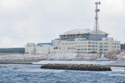 Jパワーが建設を進める大間原発=青森県大間町で2018年3月6日、佐藤裕太撮影