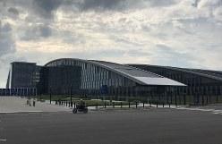 NATOの新しい本部ビル=ブリュッセルで2018年6月7日午後5時42分、八田浩輔撮影