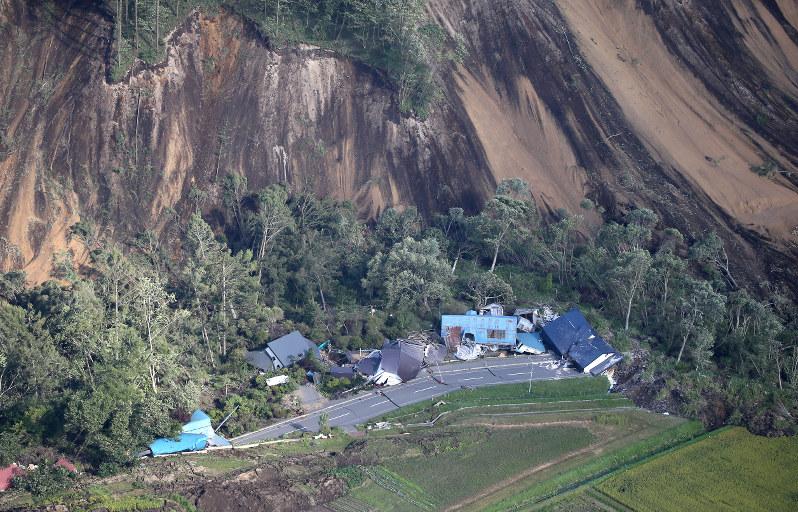 In Photos: Hokkaido quake triggers landslides, blackout