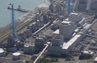 地震の影響で停止した苫東厚真発電所=北海道厚真町で2018年9月6日午後0時21分、本社機「希望」から佐々木順一撮影
