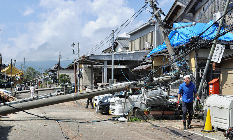 台風21号:死傷者41人に集落 孤立や停電、断水 /滋賀 - 毎日新聞