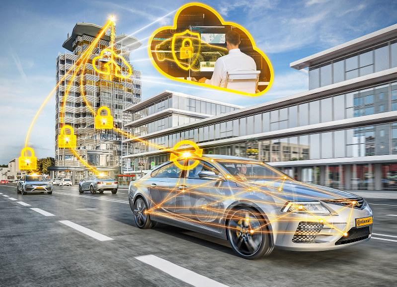 サイバーセキュリティーは自動運転時代に不可欠(イメージ図)(コンチネンタル提供)